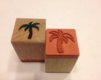 small palm tree rubber stamps, 15 mm (BB3)