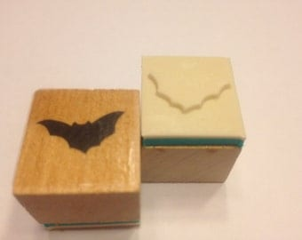 small Bat rubber stamp, 20 mm (HR45)