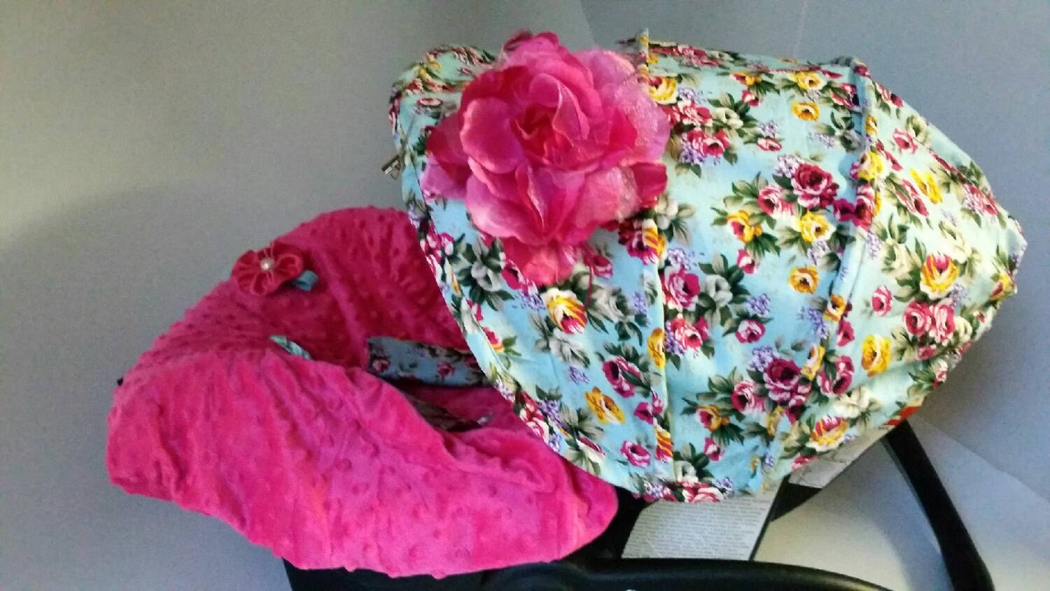 Baby Car Seat Cover Canopy Infant Car Seat Cover Canopy Floral Print for Baby Girl Car Seat Cover fit most Infant car seat & Baby Car Seat Cover Canopy Infant Car Seat Cover Canopy Floral ...