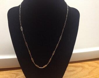 Vintage Silvertone Design Necklace