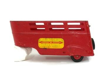 1950's Wyandotte Truck Lines Red Pressed Steel Cattle Trailer Carrier
