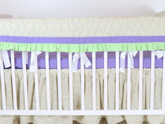 Rail Guard, Quilted Teething Guard, Crib Rail Guard