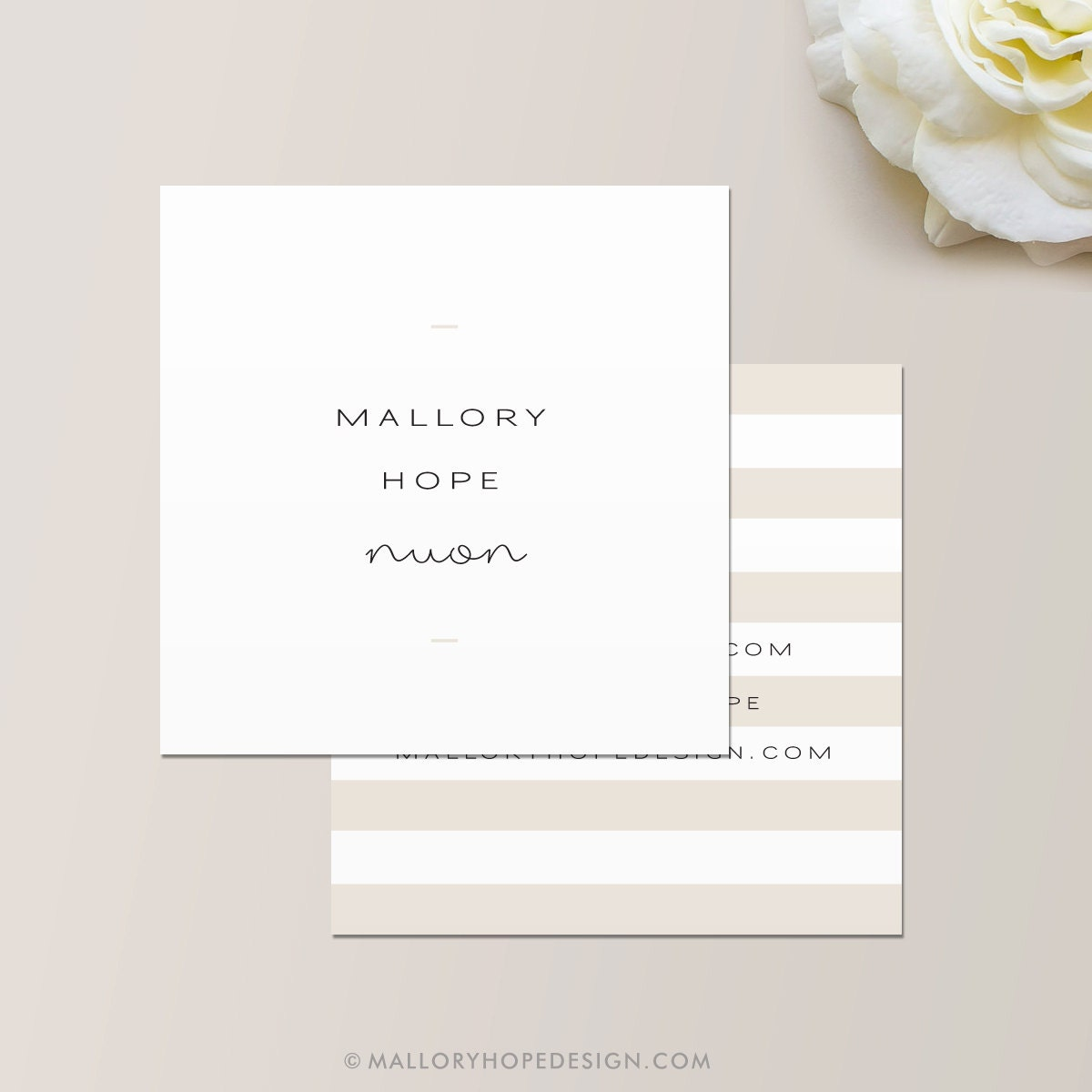 Minimal business card calling card mommy card contact for Business calling cards