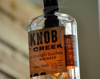 Recycled Knob Creek Bottle Hanging Pendant Lamp