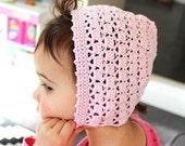 Crochet Bonnet Pattern +Instant Download+ Peony Bonnet crochet pattern for toddler (pdf file)