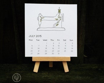 2016 Mini Desk Calendar - Sewing Machine