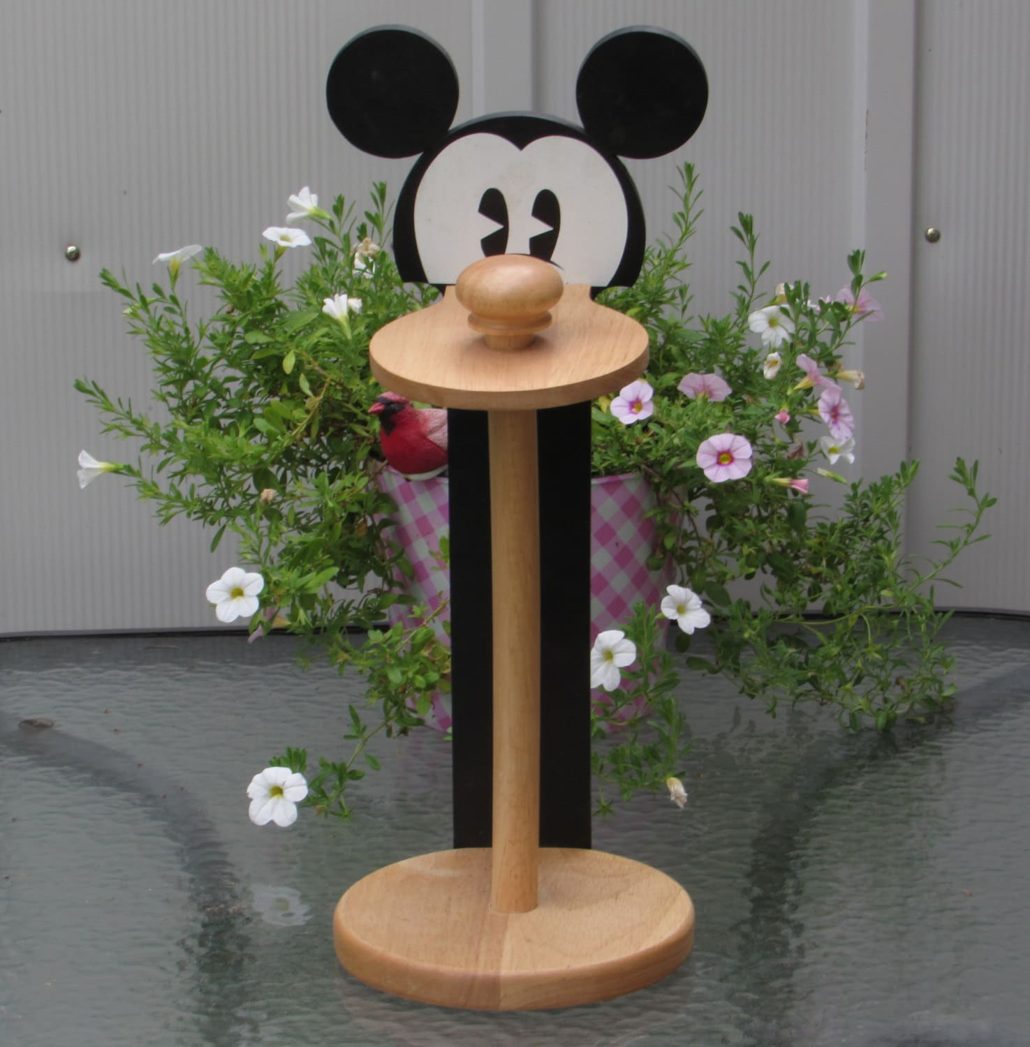Mickey Mouse Paper Towel Holder Wooden Disney Character