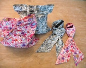 Liberty Print Scarf & Tote Bag. Liberty Shopper-Tote. Skinny Scarf. Scarf and Bag Gift Set. Floral, Paisley.