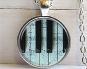 Piano Keys Necklace, Music Lovers Necklace, Piano Pendant, Music Necklace