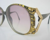 Christian Dior Frames Optyl Huge Oversized Black Gold Confetti Vintage Eyeglass Made in Germany Couture Model 2575 LARGER Size Fit 80s 90s