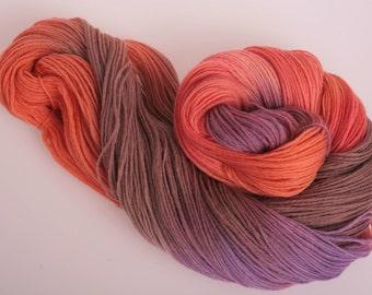 Hand Dyed Yarn 'Firedoor' - Hand dyed Wool Yarn 4 ply