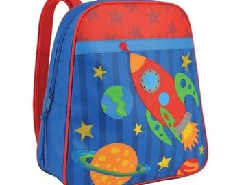 Personalized Stephen Joseph Go Go Space Backpack