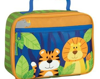 Personalized Stephen Joseph Boy Zoo Lunch Box