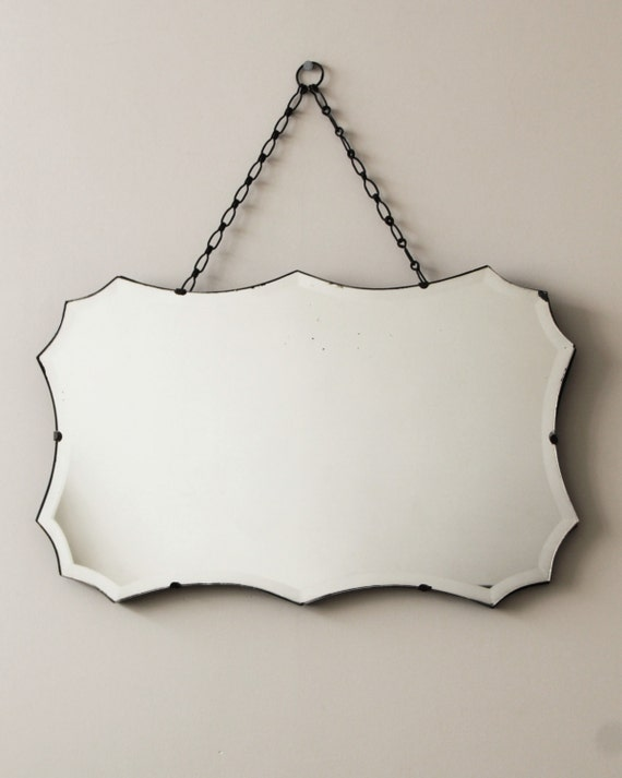 Vintage Retro Mirror Frameless Vintage Rectangular Shaped