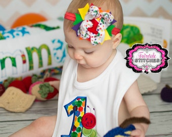 Caterpillar First Birthday Bib, Personalized Bib , Caterpillar Bib, Cake Smash, Birthday Bib
