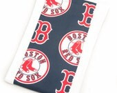 Baby Burp Cloth - Boston Red Sox Navy Blue Baseball Burp Cloth - Ready to Ship