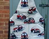 Men's Mini Cooper hand made oilcloth apron