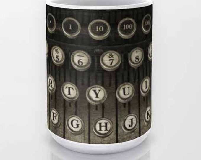 Typewriter Keys 2 coffee mug, Photo Mug, Still Life Photography, Coffee Mug, Vintage Typewriter