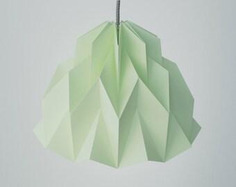 RUFFLE: Origami Paper Lamp Shade - Light Green / FiberStore by Fiber Lab