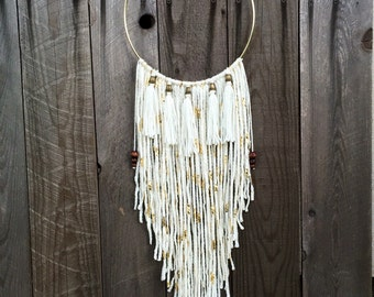DreamCatcher - Boho Wall Hanging And Decor Tassel Wind Chime With Tribal Home Decor Flair