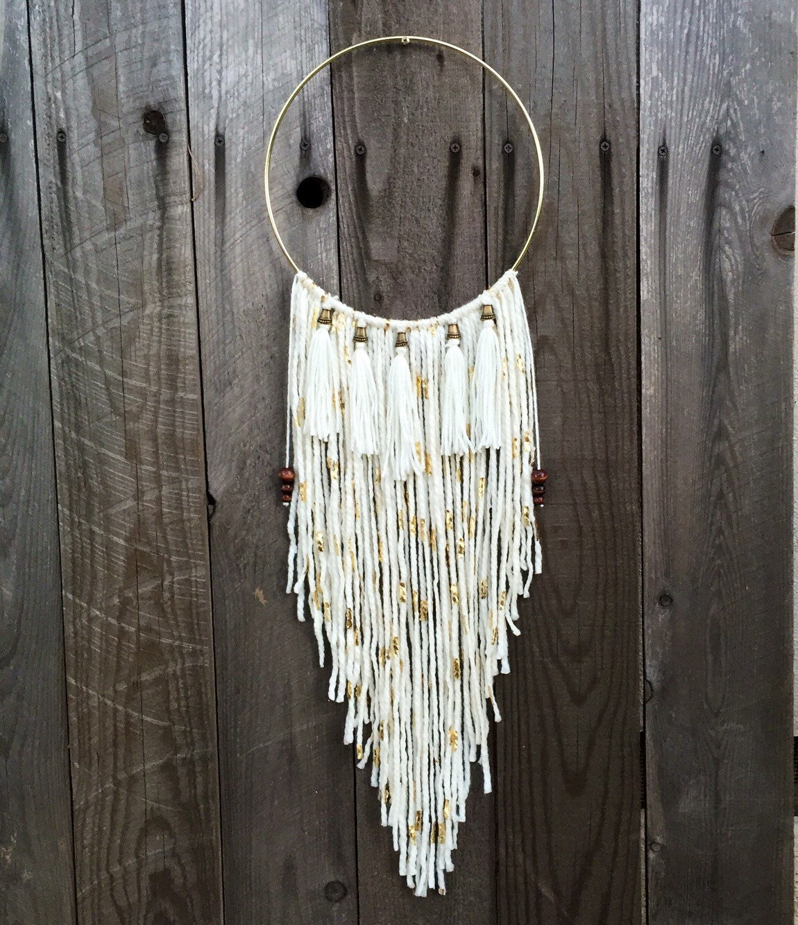 Wall Decorations Boho : Dreamcatcher boho wall hanging and decor tassel wind chime