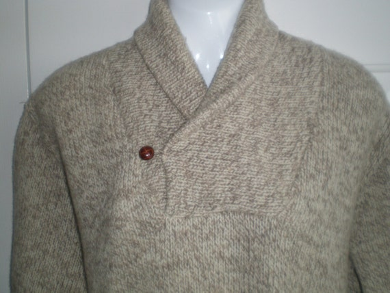 Ll Bean Made In Usa 100 Percent Wool Rag Wool Heather Shawl