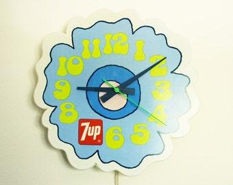 Peter Max Flower Power 7UP Clock