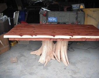 Red Cedar Stump Dining Table
