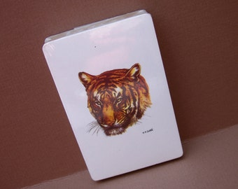 Vintage Tiger Playing Cards / W.D. Gaither / Unused / Wild Animal Playing Cards