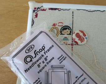 """8""""x8"""" Q-Snap Needlework Frame for Embroidery, Cross Stitch, Quilting, Beading, Fabric Painting"""
