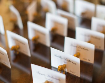 Wedding seating plan holders or wedding number holders
