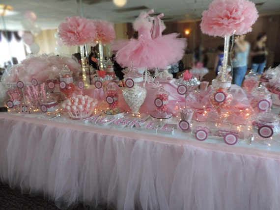 Tutu Table Skirt Custom Made Wedding Birthday Baby Shower By Bailey Had A Party Catch My