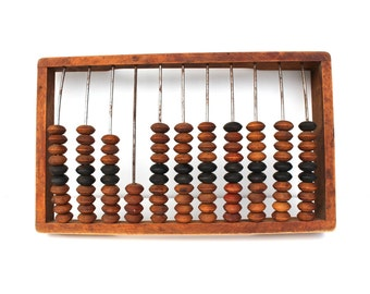 Abacus Large Abacus Antique Abacus Vintage Abacus, Primitive Calculator Old School Abacus, Vintage Office Decor, Rustic Home Decor