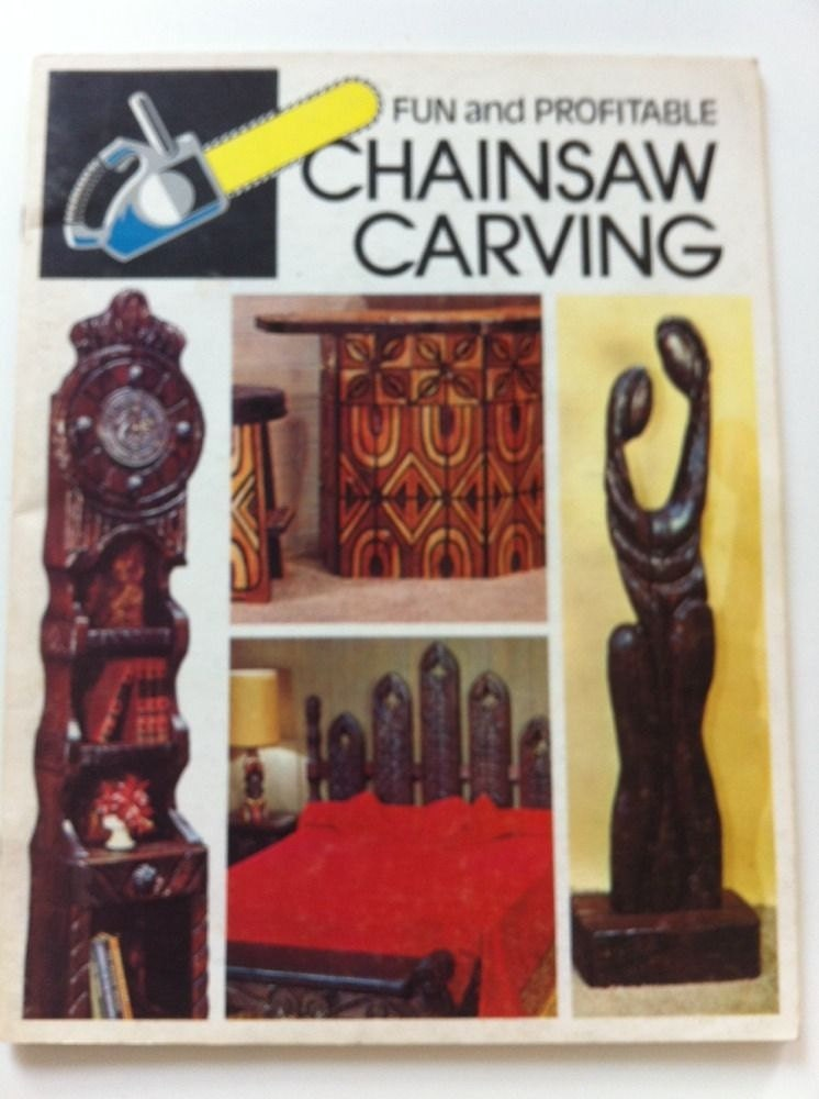 Witco chainsaw carving vintage book mid century modern by