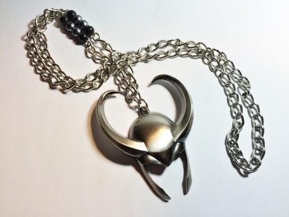 original loki helmet pendant necklace