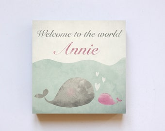 """Print """"Welcome"""" on wood 20 x 20 * personalized *."""