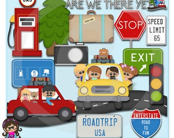 2015 Road Trip  Clip art  Clipart Graphics  Commercial Use