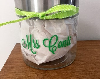 Personalized Teacher Jar