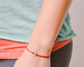 Star of David bracelet, silver star of David, red bracelet for women, Bat Mitzvah gift, Jewish, Hebrew Jewelry from Israel, spiritual jewel