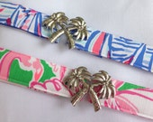 Palm Tree / Lilly Pulitzer Fabric Belt