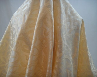 Peach Satin Embroidery, Jacquard Fabric, D-66