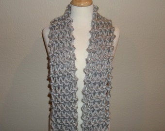 Silver His & Hers Chunky Scarf