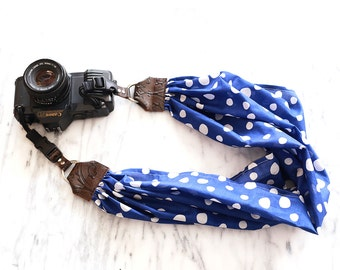 The 'Rain' Scarf Camera Strap with Quick Release Buckles -- 1.5- 2 inches wide