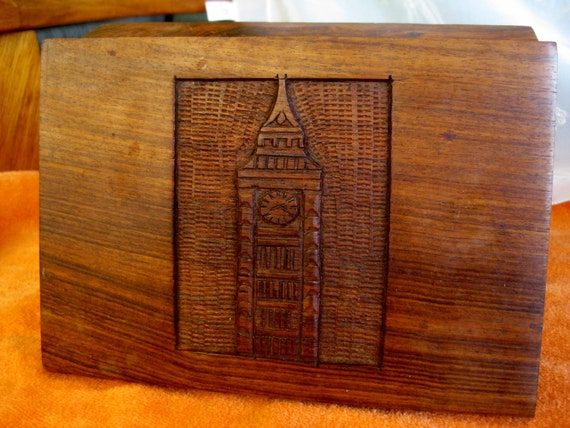 watchtower solid wood loose tea box good to very good. Black Bedroom Furniture Sets. Home Design Ideas