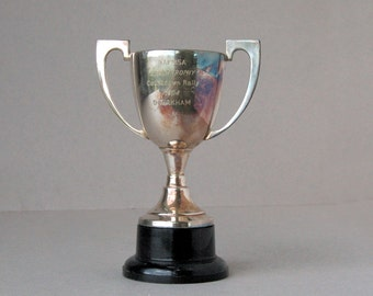 1964 Rally car silver plated trophy cup Trophy British rally cup Motorsport trophy Sports trophy Vintage silver trophy