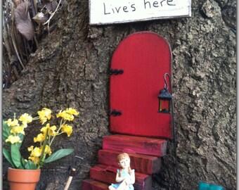 Fairy Garden, Gift Set, Fairy Door, Red Door, Garden Decor, Gifts