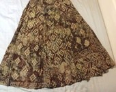 Bohemian ethnic gypsy hippy skirt midi maxi