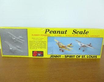 Sterling Models peanut scale Jenny Spirit of St. Louis balsa wood model plane