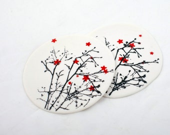 Screenprinted porcelain coaster, limited edition