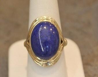 Lapis 14K Yellow Gold Ring